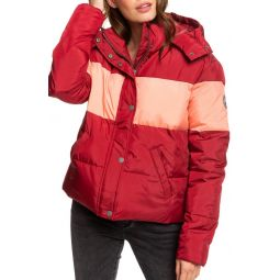Out of Focus Hooded Puffer Jacket