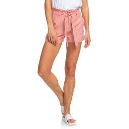 Chic and Elegance Linen Blend Paperbag Waist Shorts