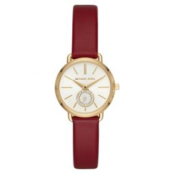 Mini Portia Leather Strap Watch, 28mm