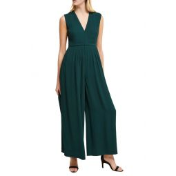Carrabelle Wide Leg Crepe Jumpsuit