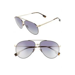 60mm Oversize Aviator Sunglasses