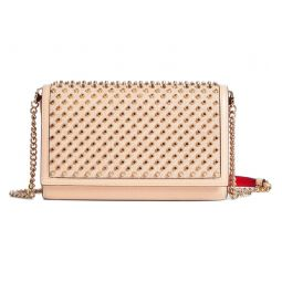 Paloma Spiked Calfskin Leather Clutch