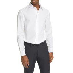 Slim Fit Seersucker Button-Up Shirt