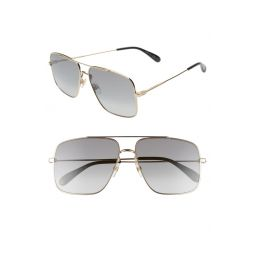 61mm Square Metal Sunglasses