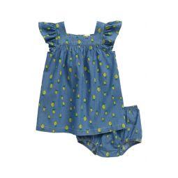 Lemon Print Chambray Dress