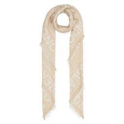 Logo Stripe Jacquard Silk & Wool Scarf
