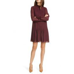 Pintuck Shift Dress