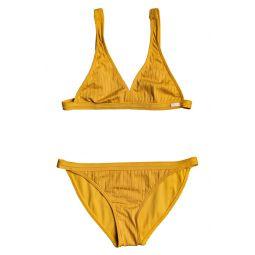 Texture Stripe Two-Piece Swimsuit