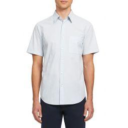 Irving Column Slim Fit Short Sleeve Button-Up Shirt