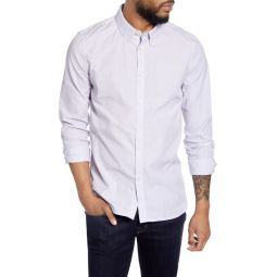 Slim Fit Pinstripe Button-Down Shirt