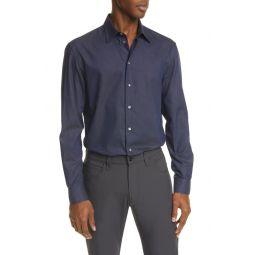 Slim Fit Geometric Button-Up Shirt