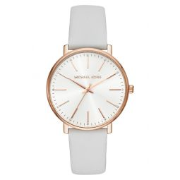 Pyper Leather Strap Watch, 38mm