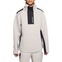 23 Engineered Mock Neck Fleece Half Zip Pullover