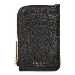 margaux leather zip card holder