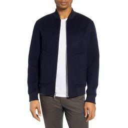 Reversible Regular Fit Cashmere Bomber Jacket