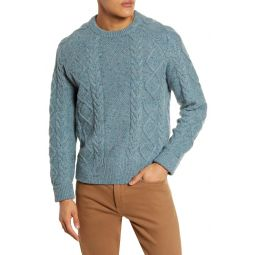 Donegal Cable Knit Fisherman Sweater