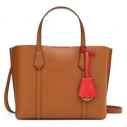 Small Perry Triple Compartment Leather Satchel
