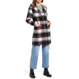 Wool Top Coat with Faux Shearling Collar