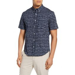 Slim Fit Short Sleeve Button-Down Shirt