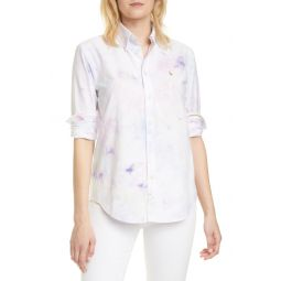 Tie Dye Cotton Button-Down Shirt