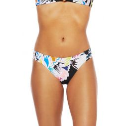 Seychelles Gathered Side Floral Hipster Bikini Bottoms