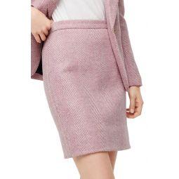 Herringbone Wool Miniskirt