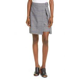 Faux Wrap Miniskirt