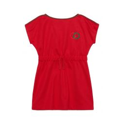 Embroidered Logo Technical Jersey Dress