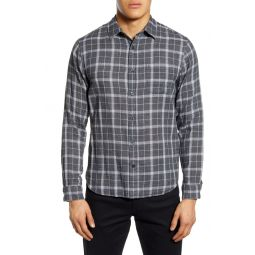 Classic Fit Plaid Button-Up Shirt
