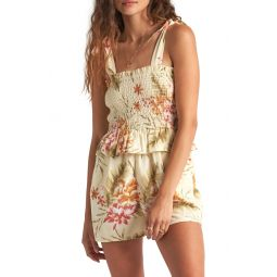 원피스Hold Tight Floral Smocked Romper