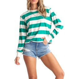 티셔츠Run Away Stripe Top