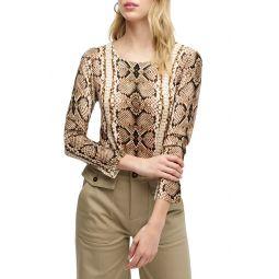 Tippi Snake Print Sweater