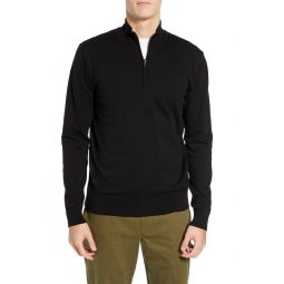Stretch Cotton Quarter Zip Sweater