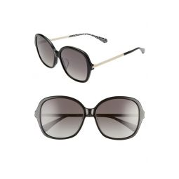 kaiya 57mm round sunglasses