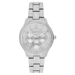 Runway Crystal Bracelet Watch, 38mm