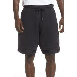 Black Cat Fleece Basketball Shorts