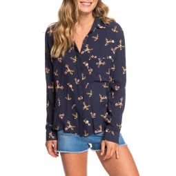 Mess Is Mine Long Sleeve Button Front Top