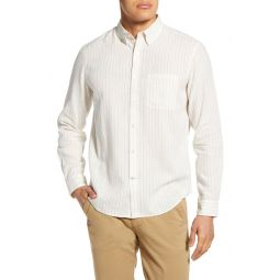 Slim Fit Stripe Linen Button-Down Shirt