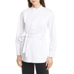 Half Placket Belted Tunic