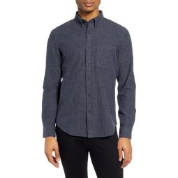 Slim Fit Donegal Herringbone Button-Down Shirt