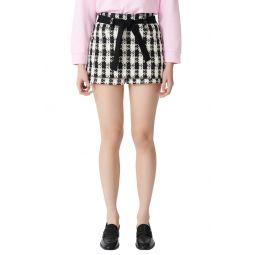 Tiered Tweed Shorts