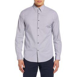 Irving Douglas Slim Fit Diamond Grid Button-Up Shirt