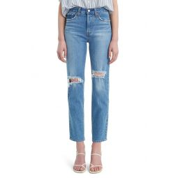 Wedgie Icon Fit Ripped Straight Leg Jeans