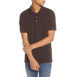Slim Fit Popcorn Jersey Polo