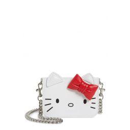 x Hello Kittyu003Csupu003Eu003Cu002Fsupu003E Mini Kitty Calfskin Leather Wallet on a Chain