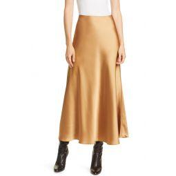 Bias Cut Satin Slip Skirt