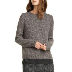 Split Back Layered Sweater