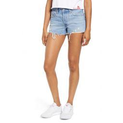 501 High Waist Cutoff Denim Shorts