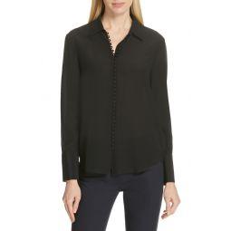 Helek Covered Button Silk Shirt