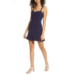 Whisper Ruffle Hem Sleeveless Fit & Flare Dress